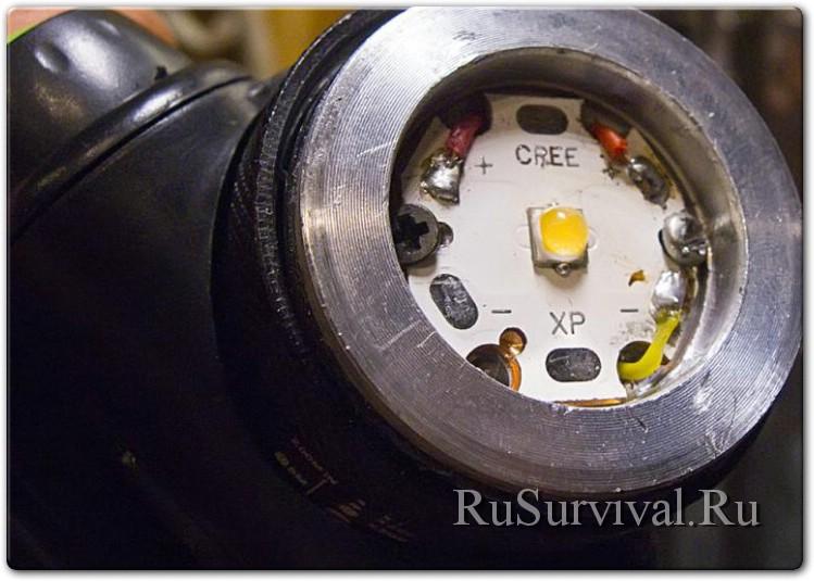 Допилка дешевого налобного фонаря без токарного и вертикально-фрезерных станков :)