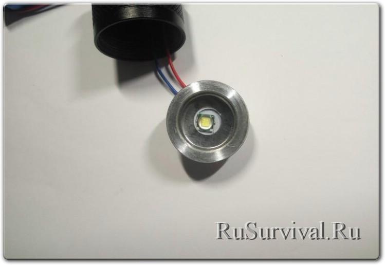 Универсальный фонарик с дополнительным COB диодом и магнитом.