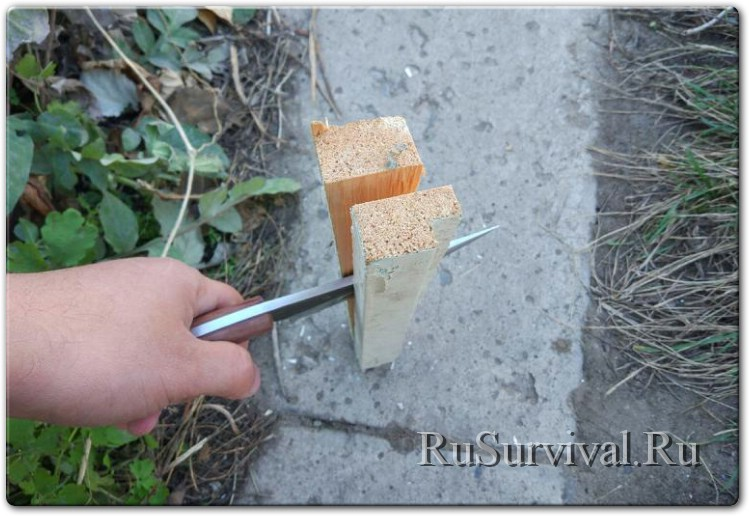 Большой и крепкий «кованый» нож из углеродки