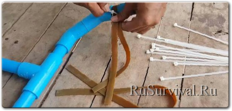 Простецкий лук из ПВХ-труб (боуфишинг)