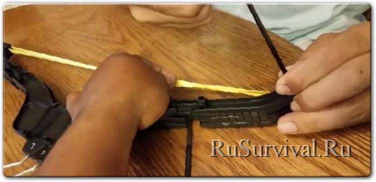 Рыбацкий лук из вешалок (боуфишинг)