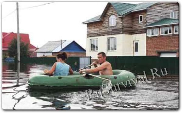 Выживание в России во время наводнения