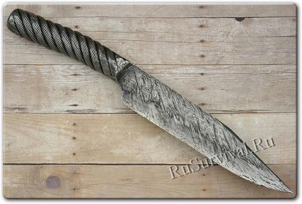 Как сделать нож своими руками в домашних условиях.  Ямка с тремя кирпичами вместо горна, велосипедный насос для...